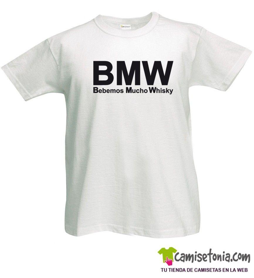 Camiseta BMW - Bebemos Mucho Whisky Blanca Hombre