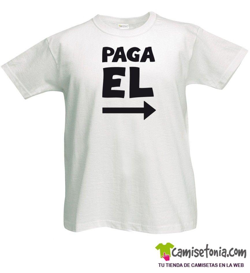 Camiseta Paga El Blanca Hombre