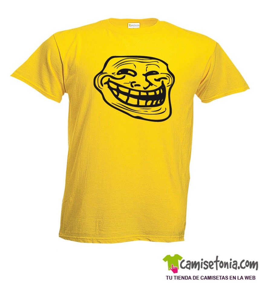 Camiseta Troll Internet Amarilla Hombre