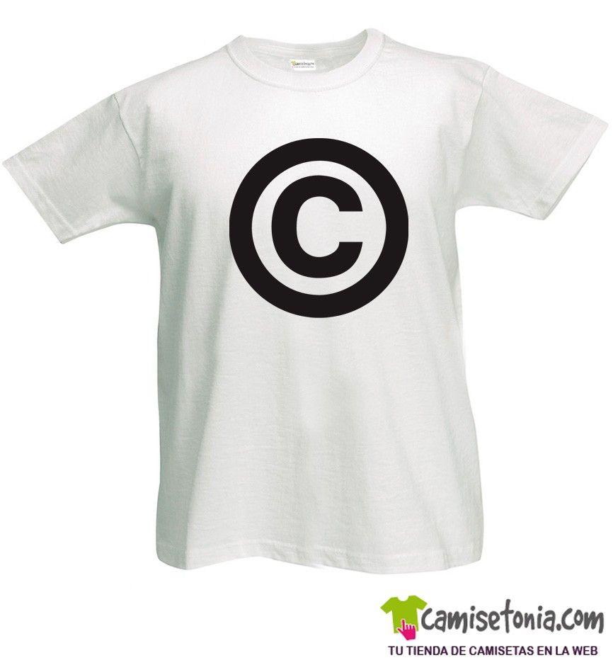 Camiseta Copyright Blanca Hombre