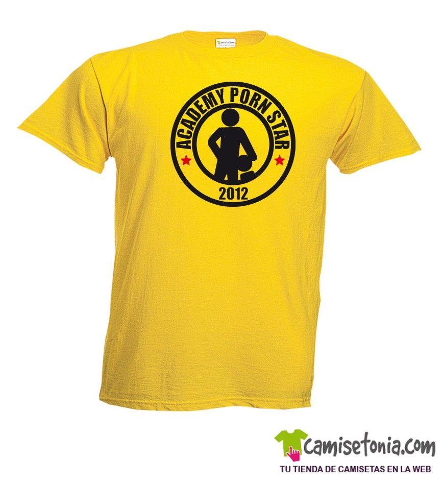 Camiseta Academy Porn Star Amarilla Hombre