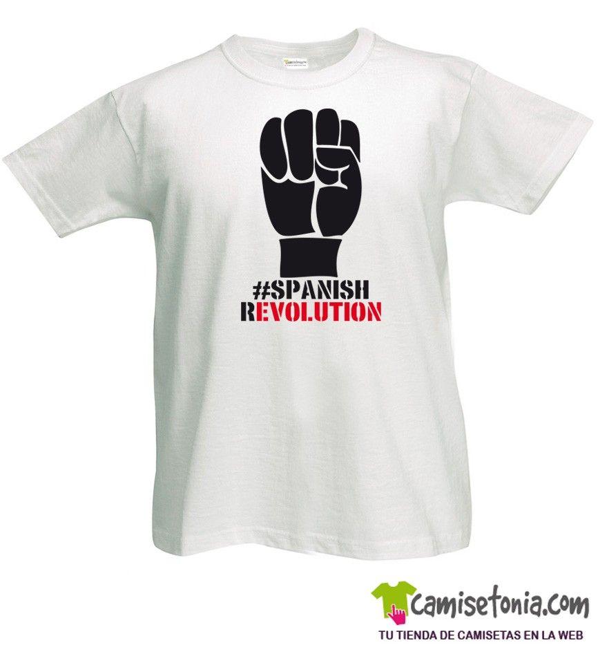 Camiseta Spanish Revolution Blanca Hombre