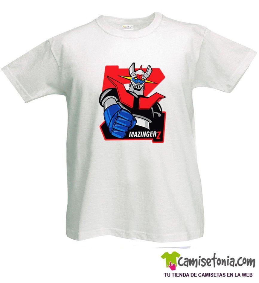 Camiseta Mazinger Z Blanca Hombre