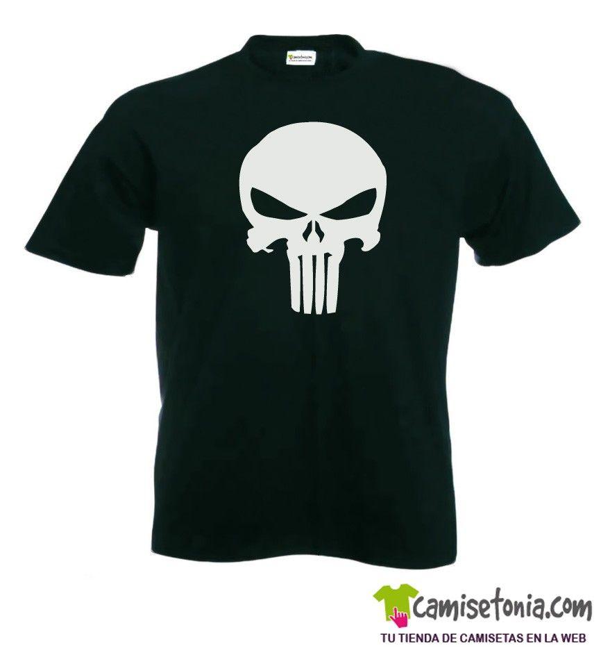 amiseta The Punisher - El Castigador Negra Hombre