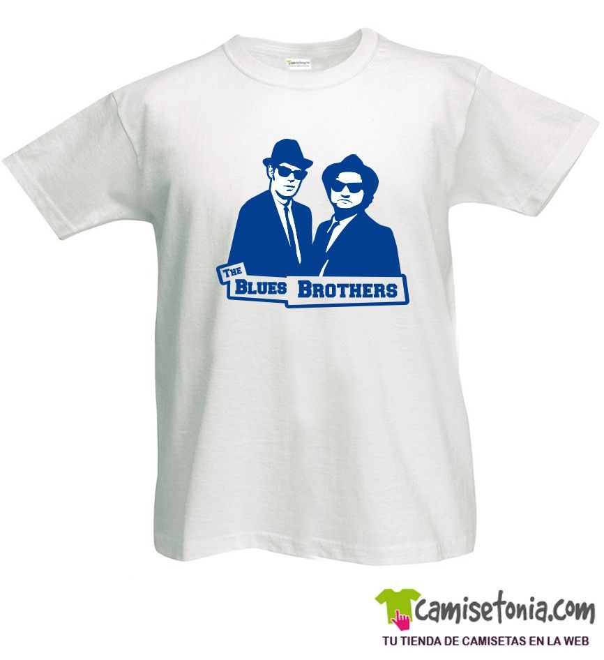 Camiseta The Blues Brothers Blanca Hombre