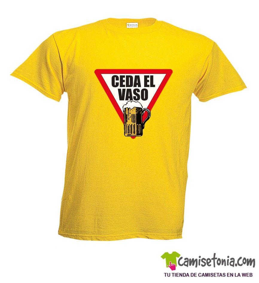 Camiseta Ceda el Vaso Amarilla Hombre