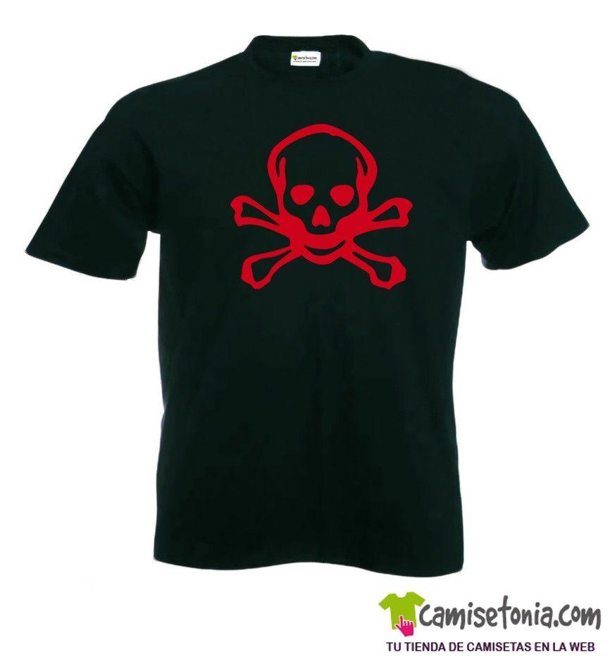 Camiseta Pirata Negra Hombre