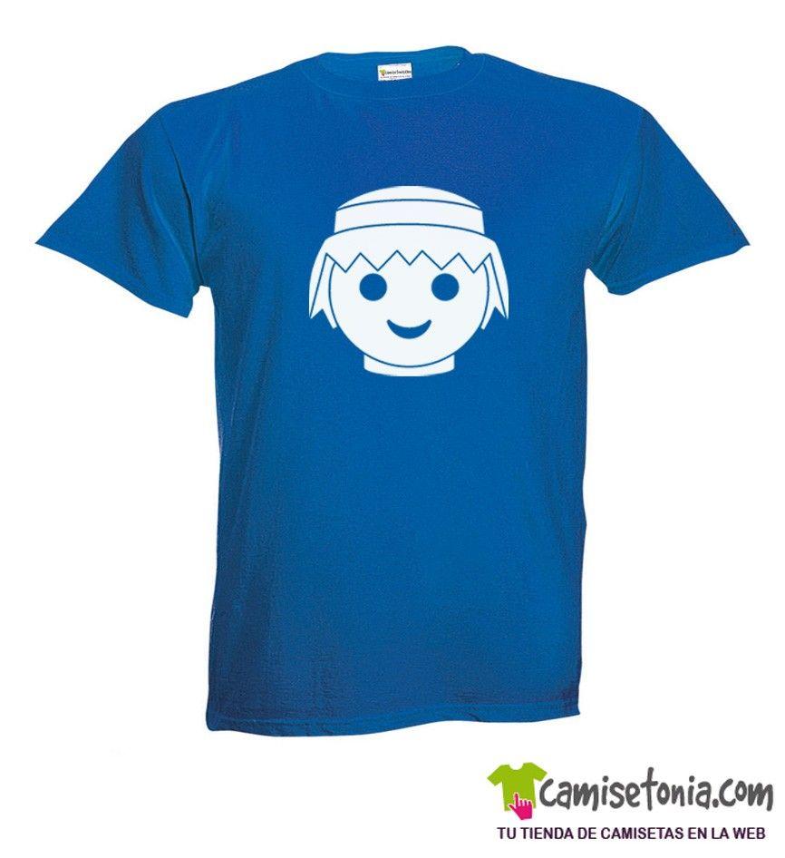 Camiseta Click Azul Hombre