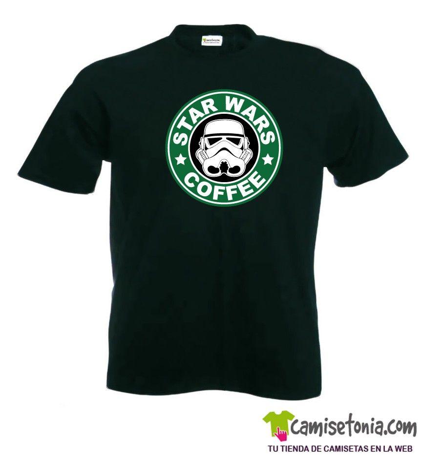 Camiseta Star Wars Coffee Negra Hombre